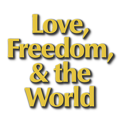 Love, Freedom, and the World logo