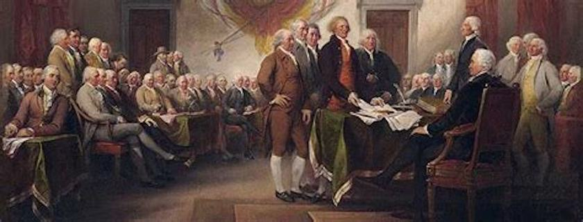 The Declaration of Independence, one paragraph at a time. Conclusion: Our Sacred Honour  > We, ...